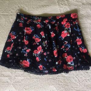 JUSTICE floral skirt